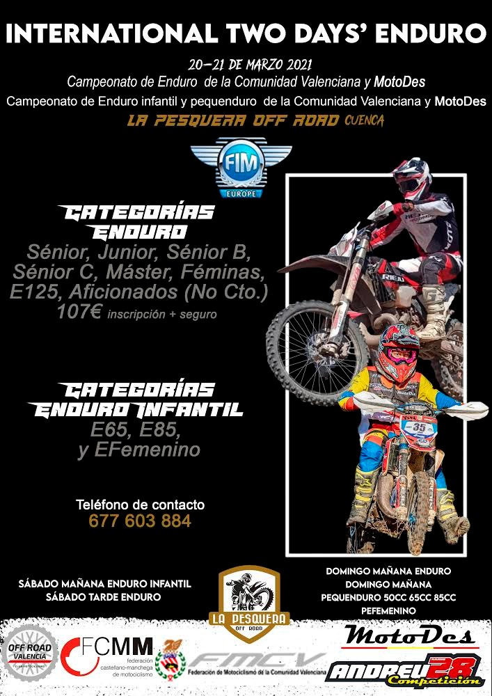International Two Days' Enduro: Este fin de semana en La Pesquera